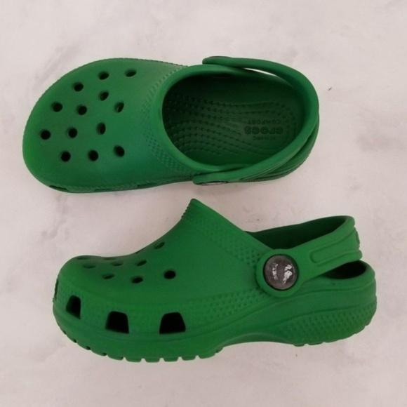 Rare Kelly Green Crocs Sandals Toddler